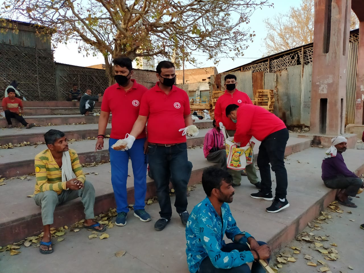 Food distribution to the needy