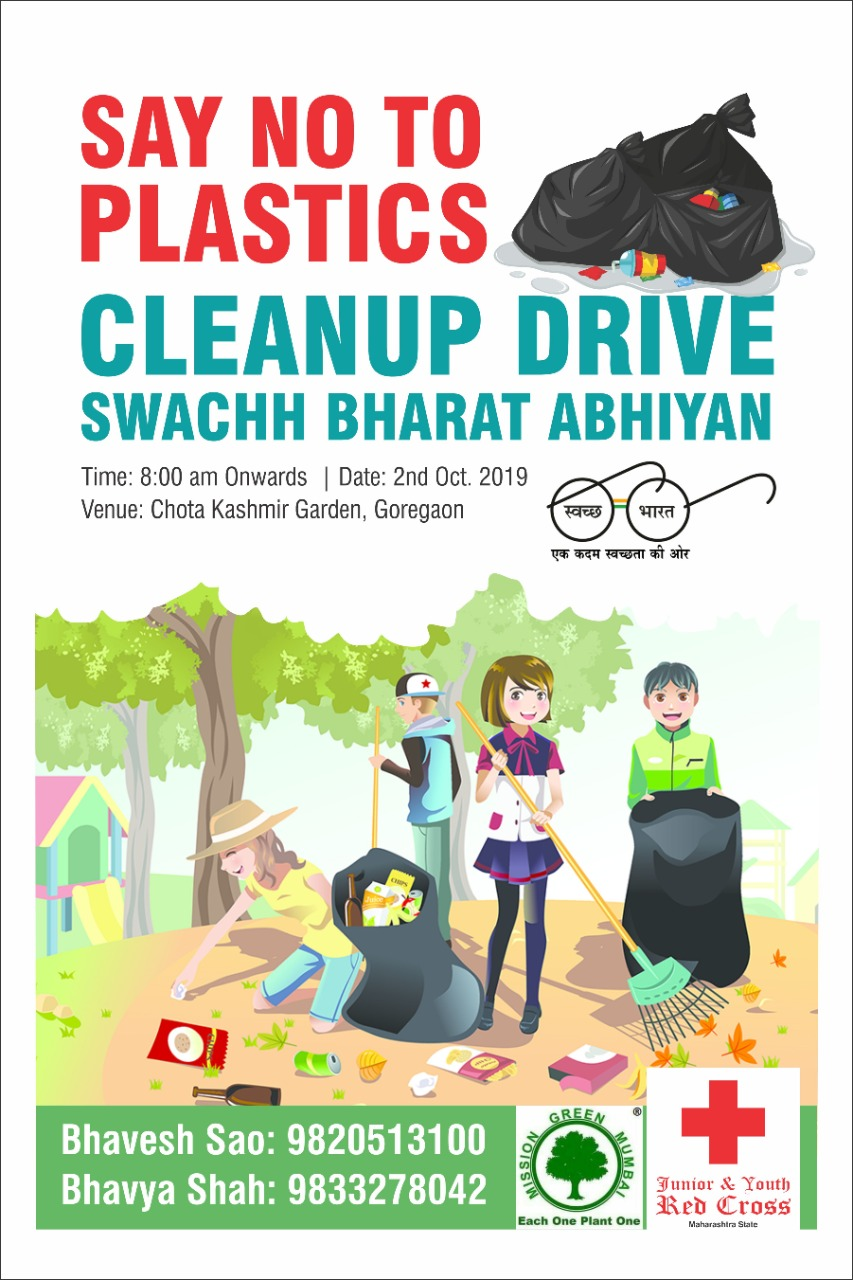 Swachhata Hi Sewa - 2019 Indian Red Cross Society - Stop single use Plastic